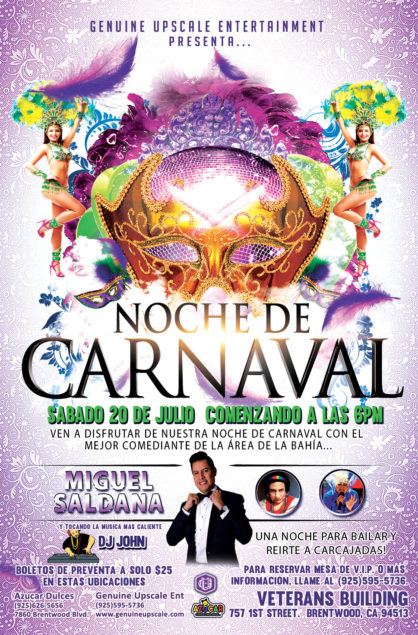 Noche de Carnaval: Saturday July 20, 2019