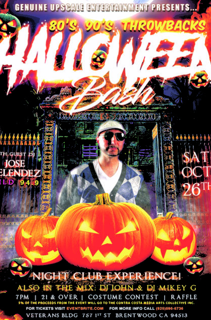 Halloween Bash 80's 90's Throwbacks - Wild 94.9 DJ Jose Melendez- October 26th, 2019